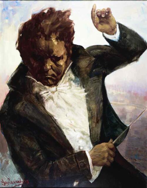 Beethoven dirigerend